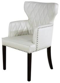Cadeira de Jantar Estofada Matelassê com Tachas  - Wood Prime PP 33298