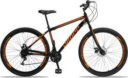 Bicicleta Aro 29 Quadro 19 Aço 21 Marchas Freio a Disco Mecânico Preto