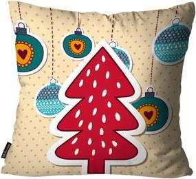 Capa para Almofada Mdecore Natal Arvore Natal Bege 45x45cm