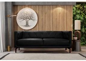 Sofá de Couro Denver Mempra Estofados - 232cm 3,5 Lugares