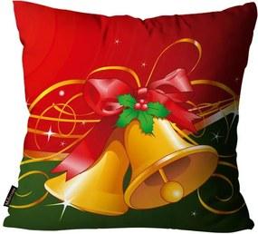 Capa para Almofada Premium Cetim Mdecore Natal Sino Vermelha45x45cm