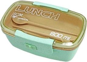 Pote Marmita Lunch Box 800ml Com Divisória - Verde - Jacki Design