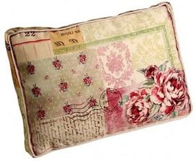 Almofada Decorativa de tecido com enchimento Patch Work Floral