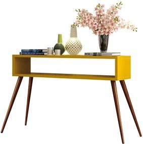 Aparador Decorativo Sala de Estar 120cm Pés Palito Acre Amarelo - Gran Belo