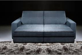 Sofá 5 Lugares Retrátil e Reclinável - Lagar Suede Azul