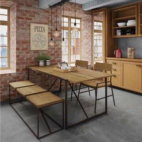 Conjunto de Jantar, Banco e Cadeira Lumber -