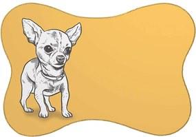 Tapete PET Pinscher Amarelo46x33cm