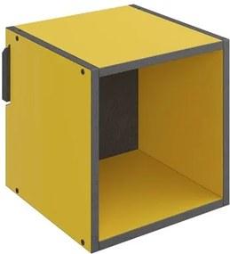 Nicho de Parede Decorativo Mov 1002 Amarelo - BE Mobiliário