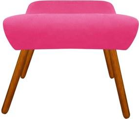 Puff Decorativo Aline Retangular Suede Pink - D'Rossi