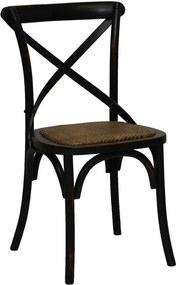 Cadeira Katrina Rústica Preta