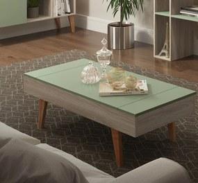 Mesa de Centro com Tampo Basculante Leaves 1002 Aveiro e Verde
