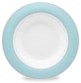 Jogo C/ 6 Pratos Fundos Hera 24,5cm Porcelana
