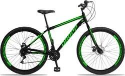 Bicicleta Aro 29 Quadro 17 Aço 21 Marchas Freio a Disco Mecânico Preto