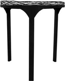 Mesa em Metal com Vidro Preto 50x45x45cm