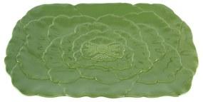 Travessa Porcelana Rosy Verde 36x23x3cm 27762 Wolff