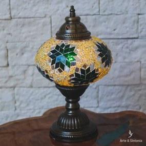 Abajur Turco Mosaico 30cm   Green