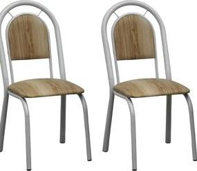 Kit 2 Cadeiras CV 070 PT - Villarte Móveis