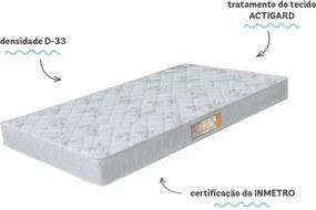 ColchÁo Espuma Sleep 78X188X18 Max D33 Branco Castor