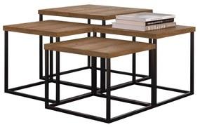Conjunto 4 Mesas de Centro Kubo Vermont - Wood Prime TS 34200