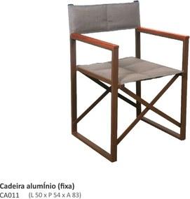 Cadeira Diretor Fixa Alumínio e Sling L50cm x P54cm x A83cm