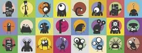 Monstrinhos - Conjunto com 24 peças