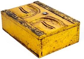 Caixa Decorativa Olhos de Buda - Azul