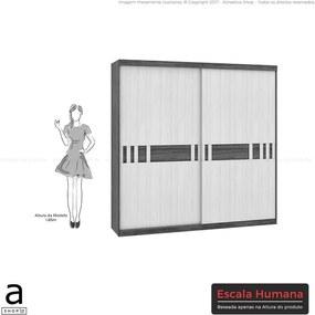 Guarda-roupa Jean C/ 2 Portas Carvalho Sensitive / Teka Sensitive