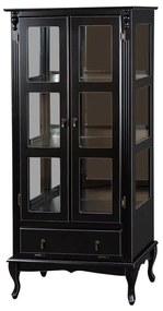 Vitrine 2 Portas com Gaveta Basculante e Espelho - Wood Prime MY 907349