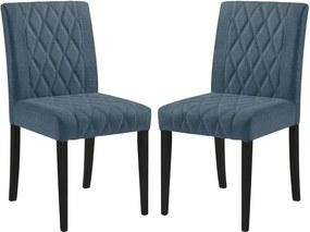 Conjunto 02 Cadeiras de Jantar Menta Preta - Wood Prime MT 16850