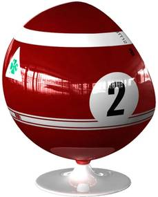 Poltrona Ball Giratória Alfa Romeo 33 Tt 12