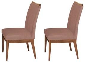 Conjunto 2 Cadeiras Decorativa Leticia Veludo Crepe