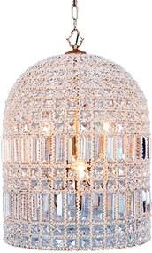 Lustre de Cristal Odalys com 4 lâmpadas