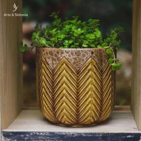 Vaso Cachepot em Cerâmica
