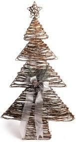 Árvore Rattan Natal Decoração Natal 90x50x50Cm Cor Marrom