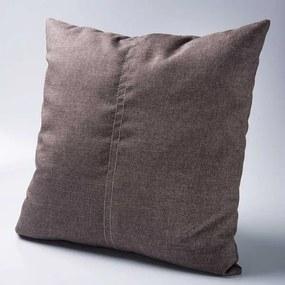 Almofada Quadrada Efeito Costura Pespontada em Linho - Enchimento 100% Fibra Siliconizada
