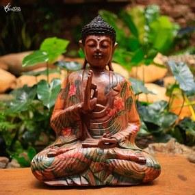 Buda com Pintura Artística 40cm