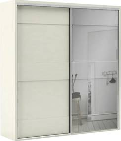 Guarda-roupa Ramon (L: 223cm) C/ 1 Porta Espelhada 100% Mdf  Off White