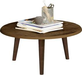Mesa de Centro Brilhante Madeira Rústica Móveis Bechara