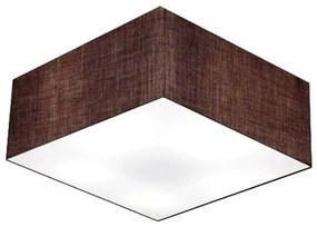 Plafon Quadrado Md-3060 Cúpula em Tecido 21/80x80cm Café - Bivolt
