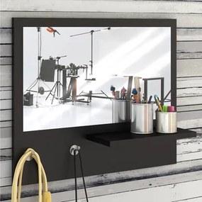 Painel Decorativo com Espelho Trend Preto - Estilare