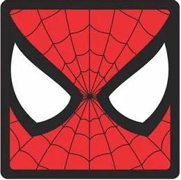 Quadro Faces Homem Aranha Marvel - 20x20