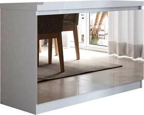 Buffet 3 Portas Truzzi Branco com Espelho - Linha Stilo