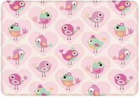 Tapete de Atividades Infantil Love Birdie Único Rosa