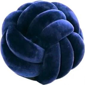 Almofada Nó de Veludo Azul Marinho
