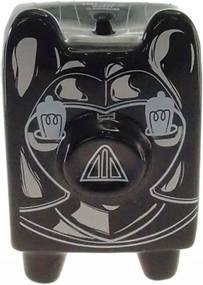 Cofre Personalizado Cerâmica Porco Robô Cor Preto 14x10x11cm