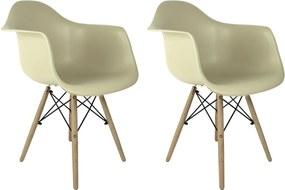 Conjunto 2 Cadeiras Eames Fendi Com Braço Dsw - Concept