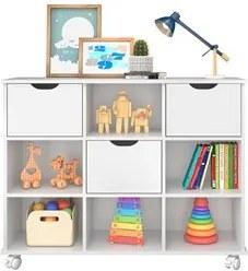 Nicho Organizador com Rodízios Toys 3 Gavetas Q01 Branco - Mpozenato