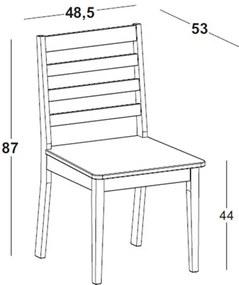 Cadeira Helena em Madeira Maciça  - Bege