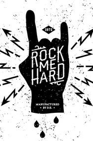 Placa Decorativa StickDecor Rock me Hard