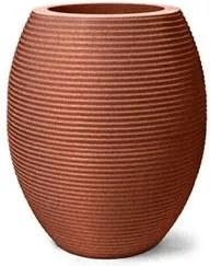 Vaso Plástico Nutriplan Riscatto Oval Baixo 22 Ferrugem
